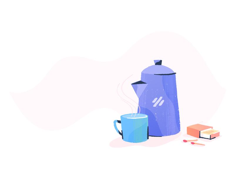 Coffee Pot brand guidelines brush branding illustrator drawing texture illustration