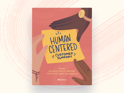 Human-Centered Customer Support landing page drawing guide ebook cover ebook illustration