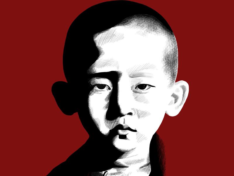 Little Monk portrait illustration