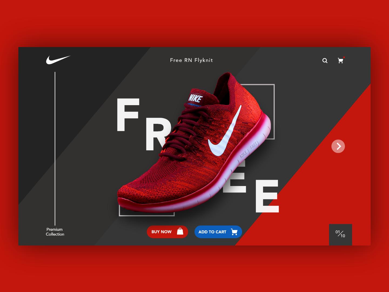 Nike Concept!! concept webuiuxdesign webui shoe nike