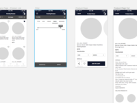 Mobile Shopping app wireframes