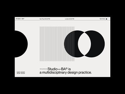 Studio—BA® web design clean motion 3d portfolio minimal agency typography graphic design graphic designer web designer website web design