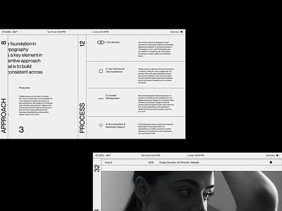 Studio—BA® motion 3d portfolio agency typography web branding ux ui web designer website web design