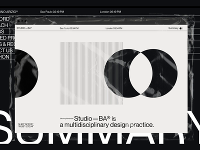 Studio—BA® - Nominated for Mobile Site of the Year product design 3d motion portfolio typography agency web design web website ui ux branding