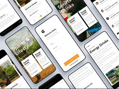 Gatorade  - App Design 3d minimal motion portfolio agency typography web ux ui branding web design website
