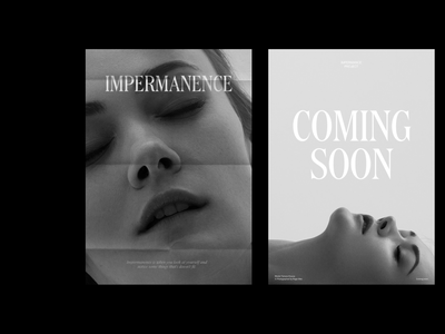 Impermanence Posters motion agency portfolio typography web design website web ui ux branding
