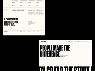 Bulletproof - New Site Launch motion brand logo illustration design agency portfolio typography web web design website branding