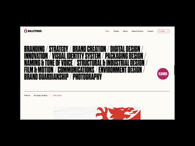 Bulletproof - New Site Launch design studio web logo illustration design agency portfolio typography web design website branding