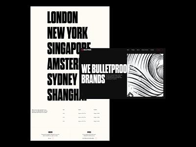 Bulletproof - New Site Launch Shots animation motion graphics logo design agency portfolio typography web web design website branding