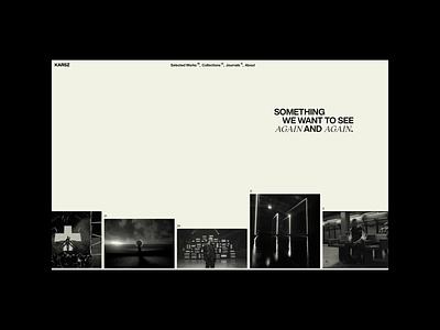 KARSZ - Homepage logo design illustration agency web portfolio website typography web design branding
