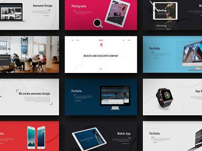 Epoch agency landingpage theme design themeforest design slider ui webdesign