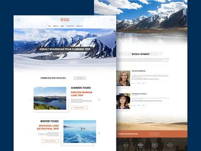 World Summit ui design ui travelwebsite travel agency webdesig