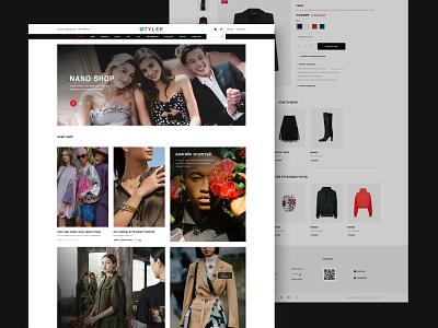 Stylee fashion web fashion brand fashion design ui  ux shopdesign design webdesign shopping shop ui ecommerce design