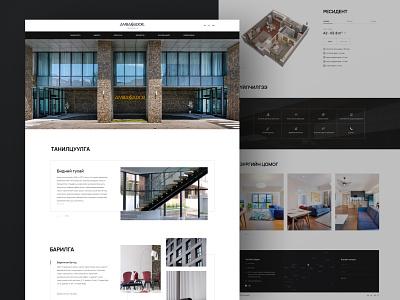 Ambassador architecture uiux one page webdesign construction homepage landingpage