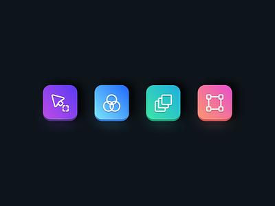 Icons logo icon icons branding simple colorful concept gradient illustraion ui design iconset icondesign