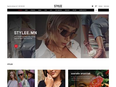 Stylee Web online store userinterface fashion design fashion ecommerce shop uiuxdesign webdesign onlineshop