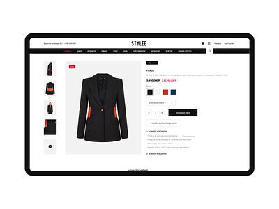 Stylee Web uiuxdesign single page fashion ecommerce ecommerce shop webdesign shop online shop
