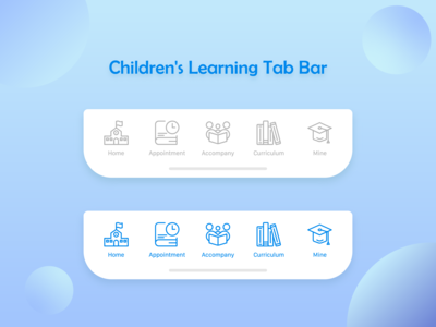 Children's Learning Tab Bar