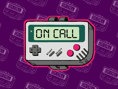 Button On Call Sticker retro gameboy sticker oncall graphics illustration