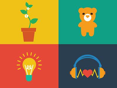 Kiip Graphics illustrations icons fun