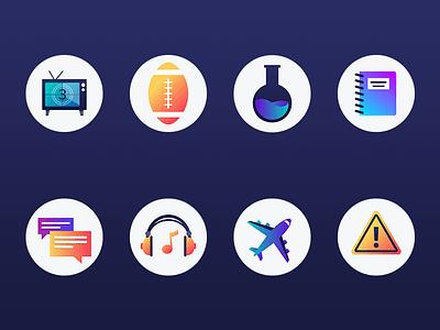 Icon Set Exploration gradients iconography icons