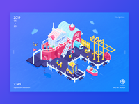 2.5d illustration   Isometric illustrations