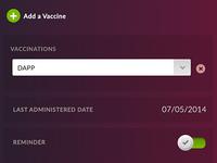 Vaccine Tracking App