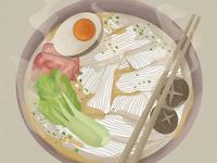 3-Illustrations of everyday delicacies