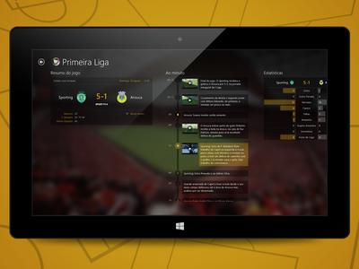 SAPO Desporto Game Detail - Windows 8