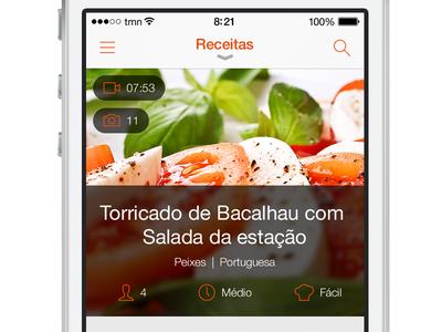 SAPO Sabores - Recipes List
