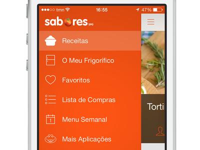 SAPO Sabores - Slide Menu