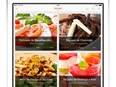 iPad SAPO Sabores - Slide Menu