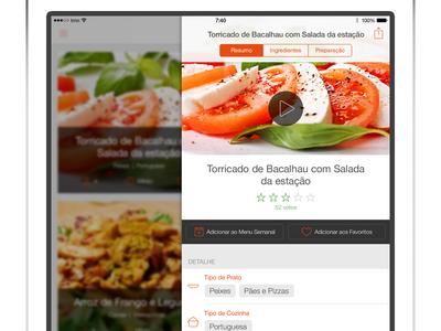 iPad SAPO Sabores - Recipe