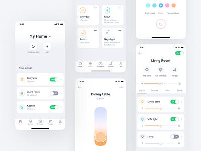 Bulbrite® Solana App motion design product design uiux ux design app android mobile ui ios