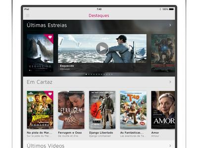 SAPO Cinema iPad - Featured Movies