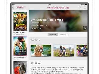 SAPO Cinema iPad - Movie Detail