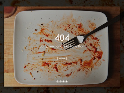 Personal Site - 404 Page 404 portfolio personal missing home page not found error