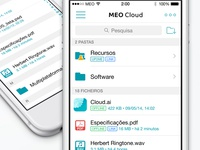 MEO Cloud - Files List