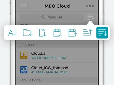 MEO Cloud - Filter