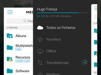 MEO Cloud - Slidemenu