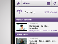 SAPO Astral Android App - Videos