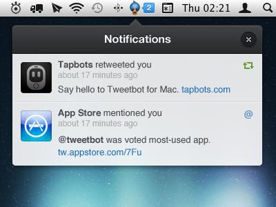 Tweetbot Notifications ui interface clean tapbots tweetbot notifications ios rebound