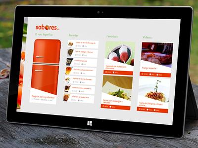 SAPO Sabores Hub - Windows 8 sapo sabores sapo sabores windows windows 8 win8 win 8 tablet tablets ui cook cooking comida food cozinha