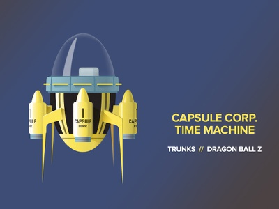 Capsule Corp Collective - Trunks' Time Machine capsulecorpcollective illustration vector dbz dragon ball z