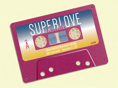 Tinashe - Superlove Cassette Illustration