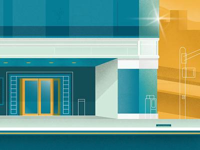 Street Corner apartment building office building building blue color texture