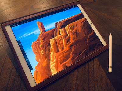 Red rock ipad pro desert color outdoors illustration red rock