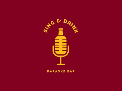 Sing & Drink music logo branding logo design logo design