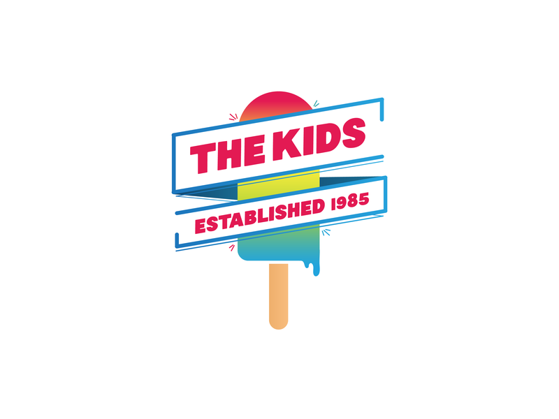 The kids illustration design gradient color gradient logo design typography logo illustration design