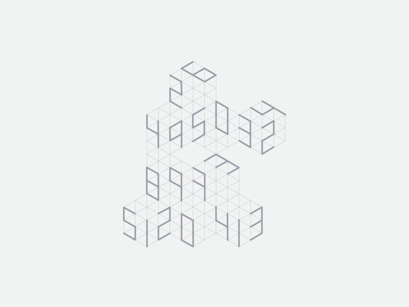Numbers type design cubes geometric design geometry numbers typography design typography layout design